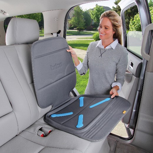 installing a car seat protector