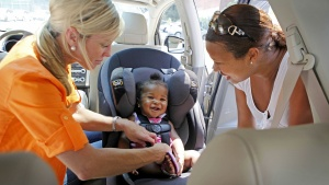 A car seat check hosted by Dorel Juvenile Group and AAA